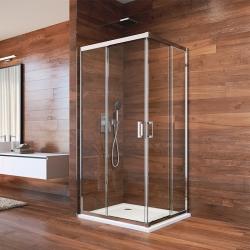 MEREO - Sprchovací kút, LIMA, štvorec, 90 cm, chróm  ALU, sklo Číre (CK608A23K)