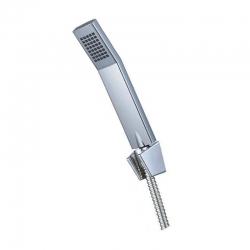 MEREO - Vaňový set s jednopolohovou ručnou  sprchou, nerezovou sprchovou hadicou a držiakom (CB465V)