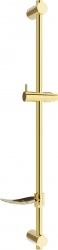 MEXEN - DF Posuvný držiak sprchy s mydlovničkou, 80 cm, zlatá (79382-50)
