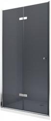 MEXEN - LIMA skladacie dvere 100x190 cm 6mm, chróm, grafit sa stenovým profilom (856-100-000-01-40)