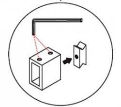MEXEN - OMEGA montážnymi sada pre inštaláciu do NIKY, chróm, (820-00-01)