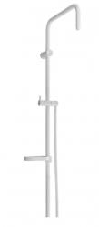 MEXEN - Sprchová souprava X, hladká hadica 150cm, mydlovnička, biela (79391-20)