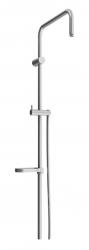MEXEN - Sprchová souprava X, hladká hadica 150cm, mydlovnička, grafit (79391-66)