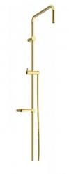 MEXEN - Sprchová souprava X, hladká hadica 150cm, mydlovnička, zlatá (79391-50)