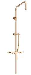 MEXEN - Sprchová súprava T, hladká hadica 150cm, mydelnička, ružové zlato (79393-60)