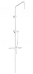 MEXEN - Sprchová súprava T, hladká hadica 150cm, mydlovnička, biela (79393-20)