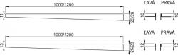Nerezová lišta pre spádovanie podlahu ĽAVÁ 1,2m tl.dlažby 10mm, výška lemu 12mm mat ALCAPLAST APZ901M / 1200 (APZ901M / 1200)