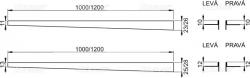 Nerezová lišta pre spádovanie podlahu ĽAVÁ 1 m tl.dlažby 12mm, výška lemu 14mm mat ALCAPLAST APZ903M / 1000 (APZ903M / 1000)
