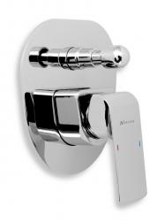NOVASERVIS - Vaňová sprchová batéria s prepínačom KVADRO chróm (35050R,0)