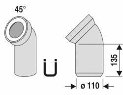 Ostatní - ABU Koleno odtok.45 st.bílá / bal. 1KS (752101)