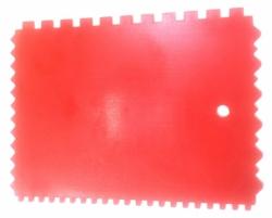 Ostatní - STIERKA PLAST zubatý E4, E6 180 x 135mm (BAT / 45)