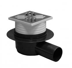 Plast Brno - Podl.vpusť 50 bočné nerez 10x10 so suchou klapkou (Plast Brno) SI50C01 (SI50C01)
