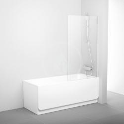 RAVAK - Pivot Vaňová zástena pevná jednodielna PVS1, 800 mmx1400 mm – farba svetlý hliník, sklo transparent (79840C00Z1)