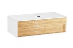 RAVAK - Step Umývadlová skrinka SD, 1000x540x305 mm, 1 zásuvka, biela/dub (X000001417)