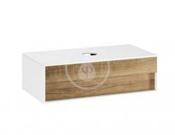 RAVAK - Step Umývadlová skrinka SD, 1000x540x305 mm, 1 zásuvka, biela/orech (X000001418)