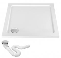 REA - Akrylátová sprchová vanička Ego 900x900x50 mm biela (REA-K012K) VÝPREDAJ