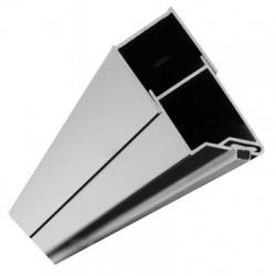 REA - Magnetický uzatvárací profil pre dvere Molier chróm (REA-K3261)