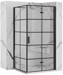 REA/S - Sprchovací kút Moliere dvere / stena 80x100 BLACK (MOLDS080100B)