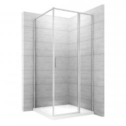 REA - Sprchovací kút Atrium Square 80x100 ľavý (REA-K8002)