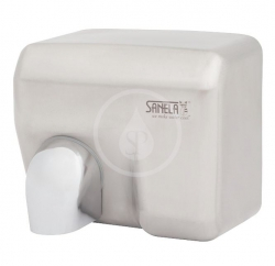 SANELA - Automatické osoušeče Elektrický bezdotykový sušič rúk, kryt z nehrdzavejúcej ocele (SLO 02E)