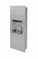 SANELA - Nerezové doplňky Kombinácia zásobníka na papierové uteráky z nehrdzavejúcej ocele a odpadkového koša (SLZN 21Z)