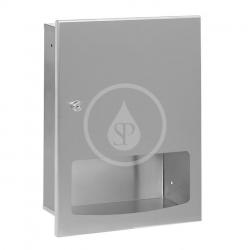 SANELA - Nerezové doplňky Zásobník papierových uterákov z nehrdzavejúcej ocele, na montáž pod omietku, povrch matný (SLZN 56Z)