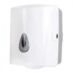 SANELA - Plastové doplňky Zásobník na papierové uteráky v kotúčoch, plast, biely (SLDN 02)