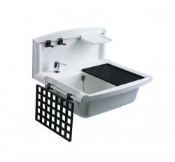 Sanit Držiak na mydlo biely k výlevke plast Multiset 60006000099 (60A03010099)