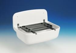 Sanit nástenná výlevka biela 49x35x22cm bez mriežky, nástenné umývadlo 60001010099 (60001010099)