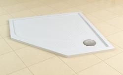 SanSwiss vanička Marblemate 5-uholník biela 90x90x3 cm (WM5636090004)