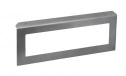 SAPHO - AVICE uzavretá konzola 490x200x35mm, metalická strieborná, pravá (VC315)