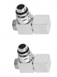 SAPHO - CUBE pripojovacia sada ventilov ručná rohová, chróm (CP4010)