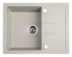 SAPHO - Drez granitový zabudovateľný s odkvapom 65x50 cm, béžová (GR6502)