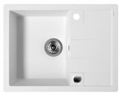 SAPHO - Drez granitový zabudovateľný s odkvapom 65x50 cm, biela (GR6501)