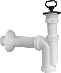 SAPHO - Drezový sifón, zátka s uchom, odpad 50mm, plast (CV1017)