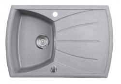 SAPHO - Granitový zabudovateľný drez s odkvapom 77x51 cm, sivá (GR1103)