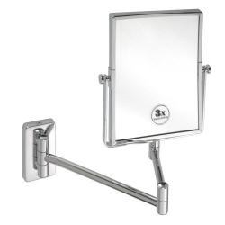 SAPHO - Kozmetické zrkadielko hranaté záves. bez osvetlenia 155x200mm, chróm (XP011)