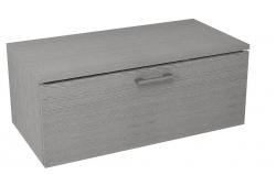 SAPHO - MAKALA skrinka s vrchnou doskou 89,5x35x45,2 cm, dub strieborný (ML096)
