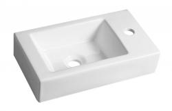SAPHO - MELINDA umývadlo 46x11x26,5cm, biela (BH7004)