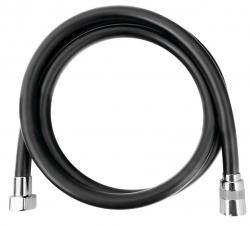 SAPHO - SOFTFLEX hladká plastová sprchová hadica, 150cm, čierna mat/chróm (1208-16)