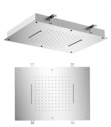 SAPHO - Stropná sprchová hlavica s dvoma kaskádami, 560x400mm, leštená nerez (MS333)