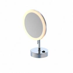STEINBERG - LED kozmetické zrkadlo so stojanom, chróm (650 9300)