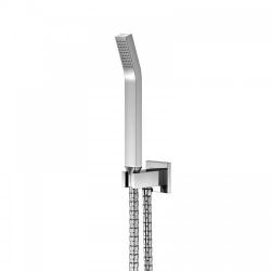 STEINBERG - Sprchová súprava, chróm (držiak ručnej sprchy s prívodom vody, ručná sprcha, kovová hadica) (120 1670)