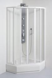 TEIKO sprchovací kút päťuholníkový SKPU 4/90 SKLO WATER OFF BIELY 90x90x185 (V331090N55T64001)