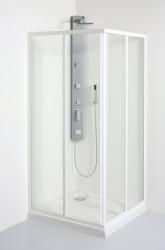 TEIKO sprchovací kút štvorcový Škrha 2/80 PEARL BIELY 80x80x185 (V331080N51T12001)