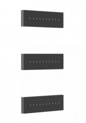 TRES - 3 zapustené hydromasážne trysky 140x45 mm. Materiál Mosadz. (29951504NM)