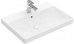 VILLEROY & BOCH - Avento Umývadlo nábytkové 600x470 mm, s prepadom, otvor na batériu, alpská biela (41586001)