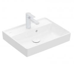 VILLEROY & BOCH - Collaro Umývadielko 500x400 mm, s prepadom, 1 otvor na batériu, CeramicPlus, Stone White (433450RW)