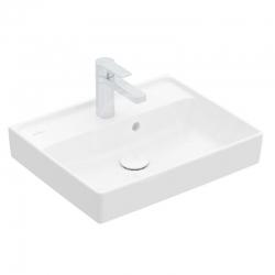 VILLEROY & BOCH - Collaro Umývadielko nábytkové 500x400 mm, s prepadom, 1 otvor na batériu, CeramicPlus, Stone White (43345GRW)
