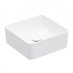 VILLEROY & BOCH - Collaro Umývadlo na dosku, 380x380 mm, alpská biela (4A213801)